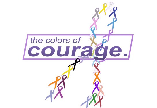 Colors of Courage Cancer Ribbons