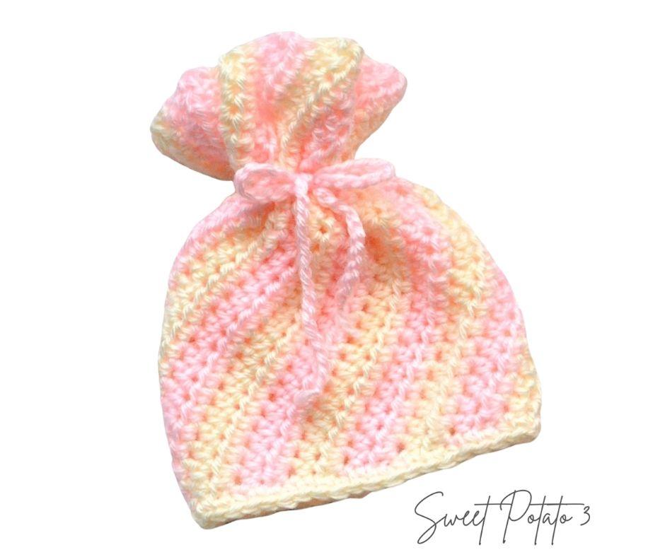 Peppermint Twist Crochet Hat