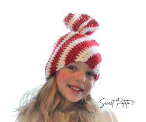 Read more about the article Peppermint Twist Hat – Christmas In July Free Crochet Pattern