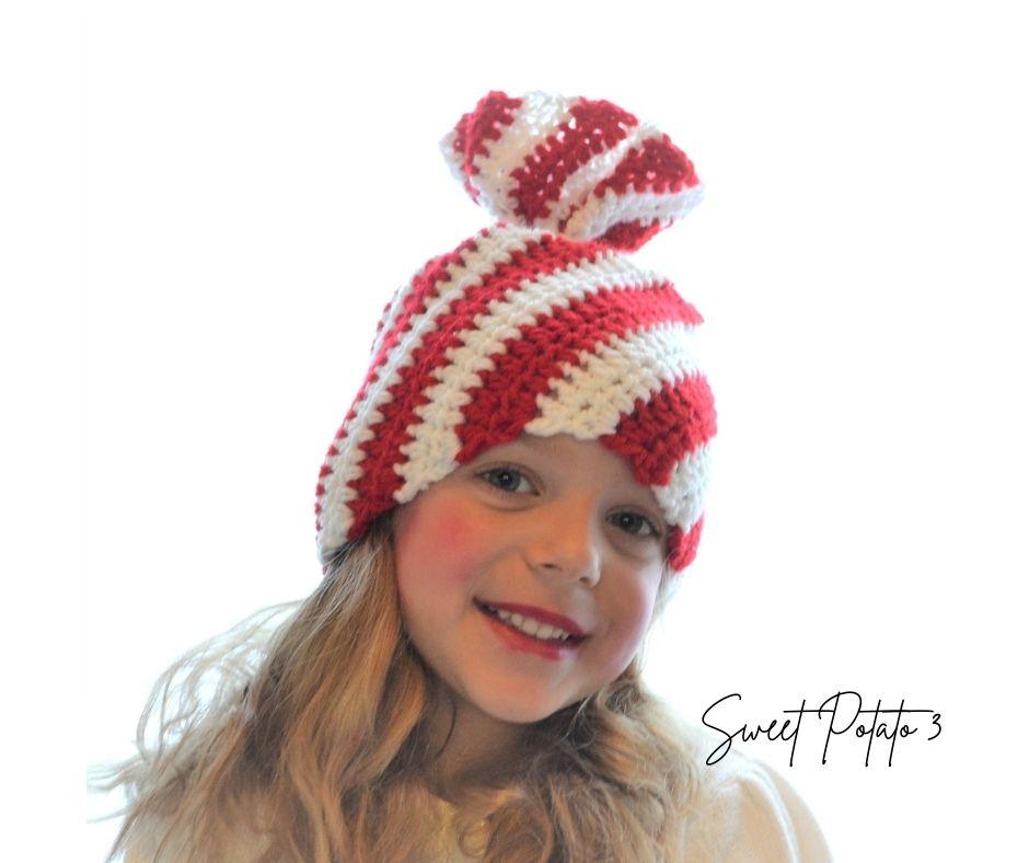 Peppermint Twist Hat – Christmas In July Free Crochet Pattern