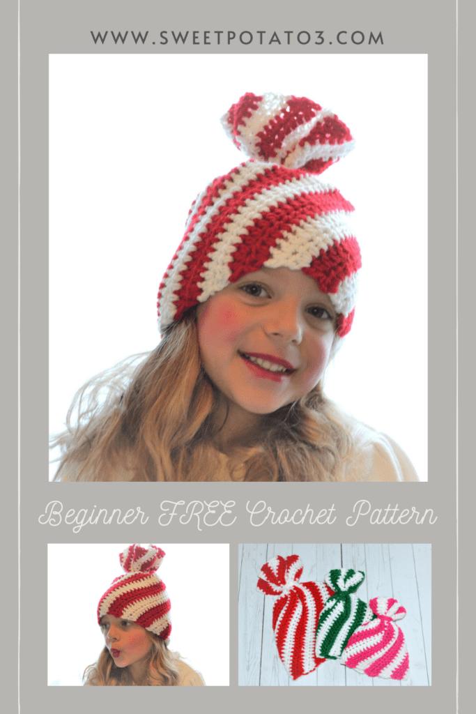 Peppermint Twist hat crochet pattern