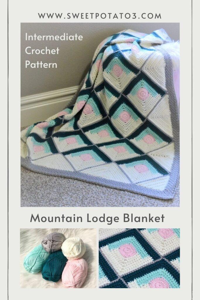 Mountain Lodge Blanket crochet pattern