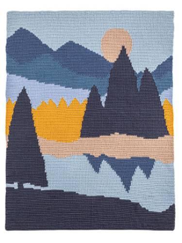 Blue Mountain Lakes Landscape Blanket