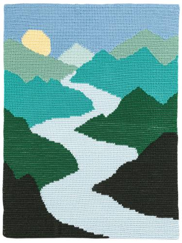 Mountain Rivers Landscape Blanket