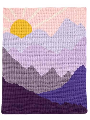 Purple Mountain Majesty Landscape Blanket