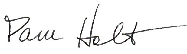 Pam Holt Signature