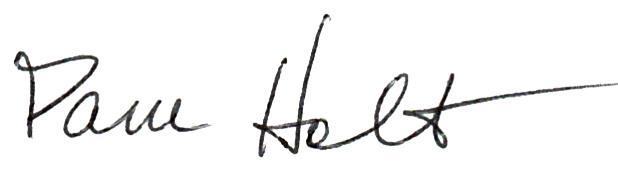 Pam Holt Signature
