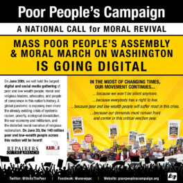 Poor People's Campaign Going Digital on June 20, 2020