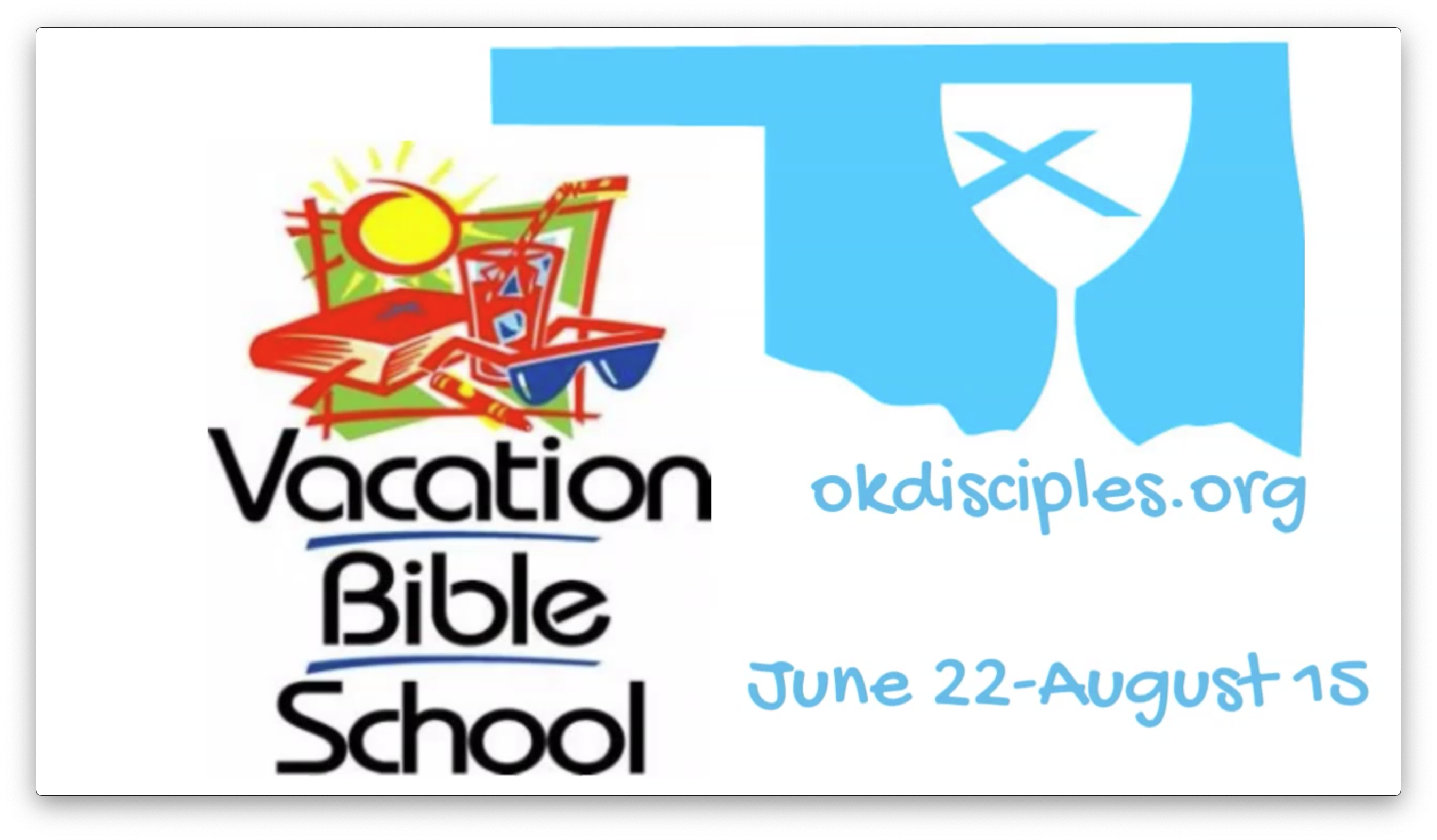 Time for Virtual Vacation Bible School