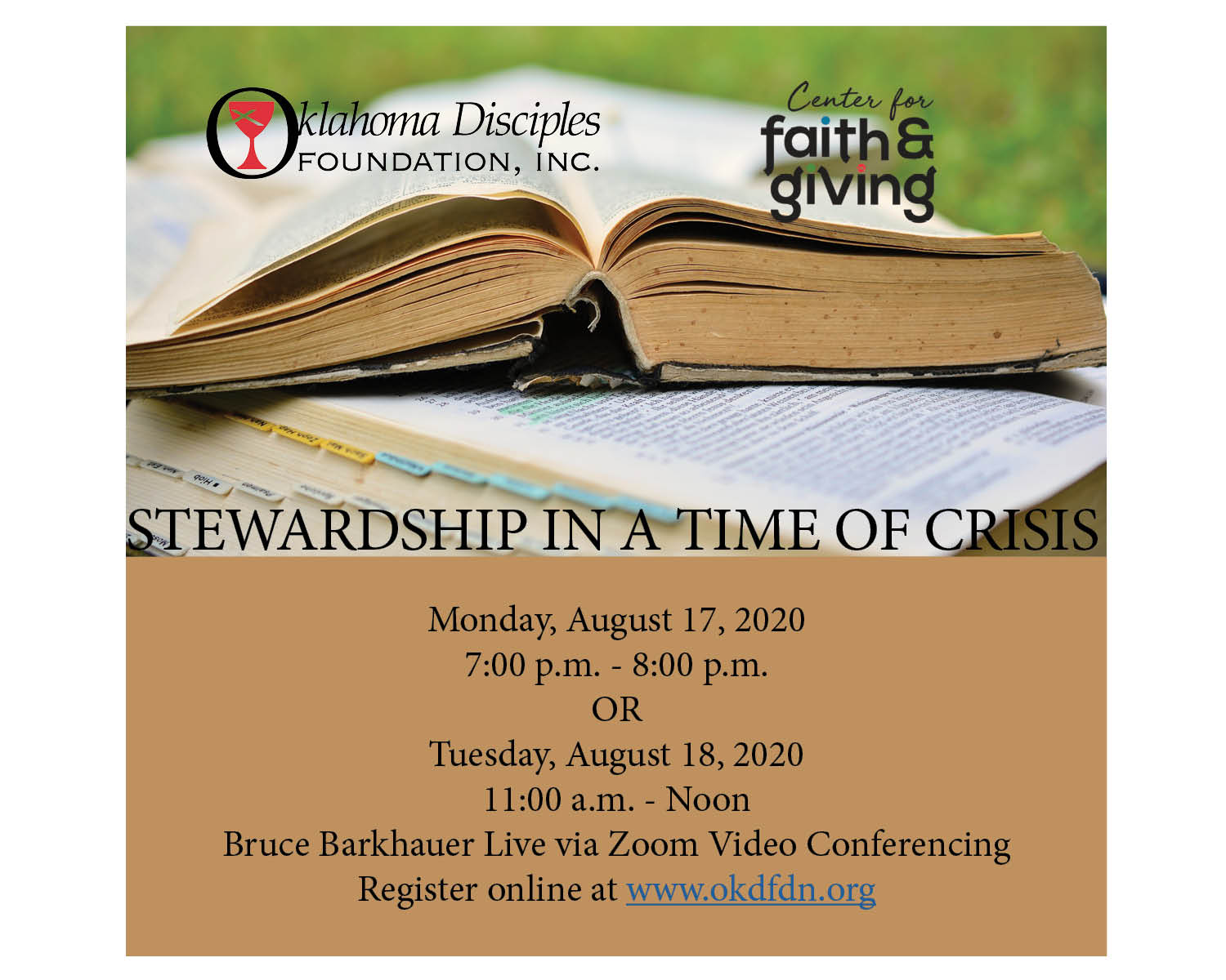 Register to Attend: Stewardship in a Time of Crisis