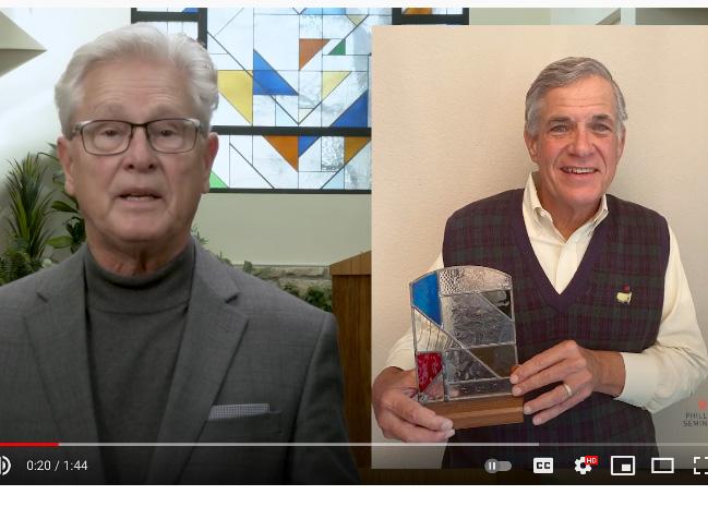 Rev. Bill Inglish Recipient of 2021 Marshall Award