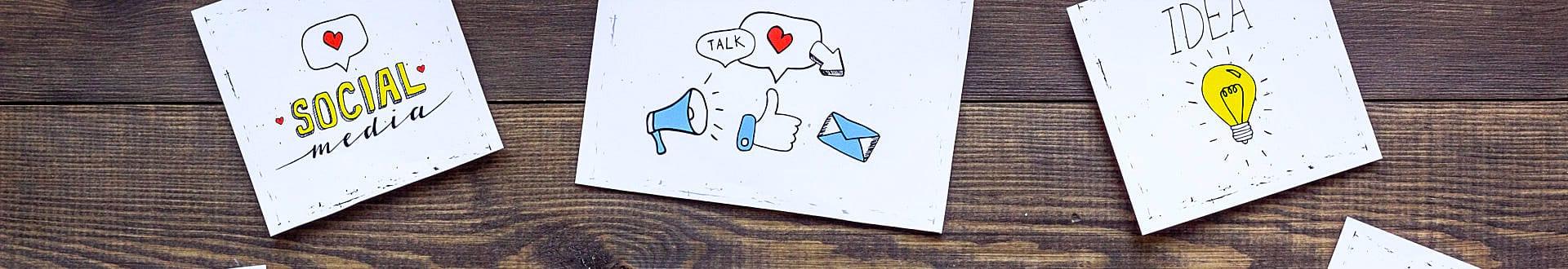 social media and idea concept
