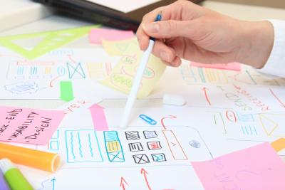 ux designer working