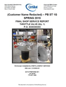 Orbital Energy Services Report Cover