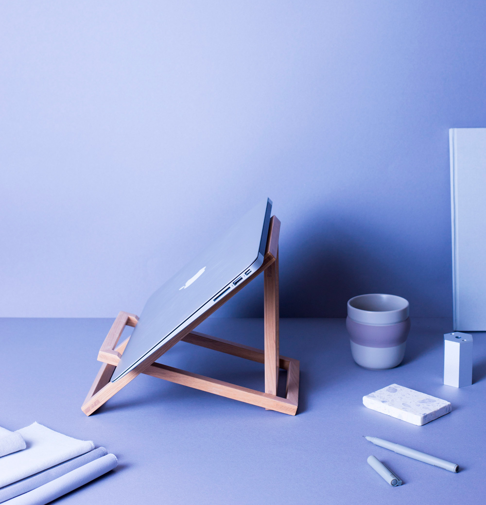 Standing computer stand by VALRYGG studio
