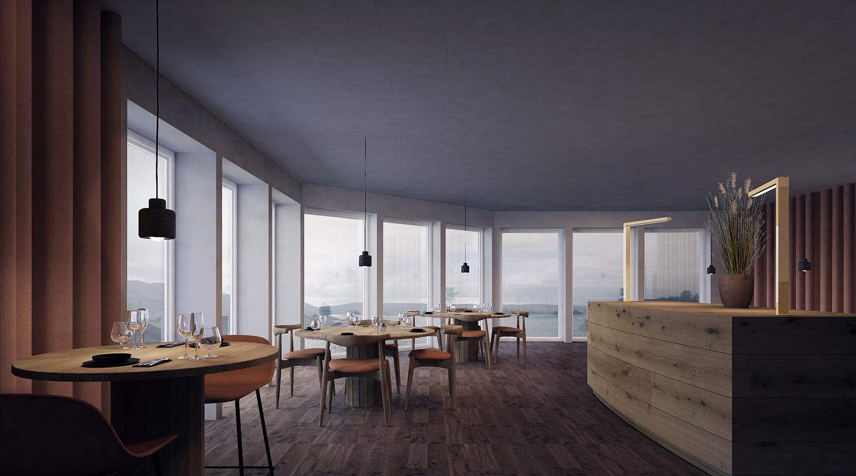 Lovund hotel restaurant by VALRYGG studio