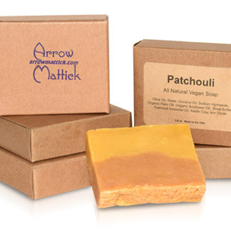 Arrow Mattick patchouli natural soap