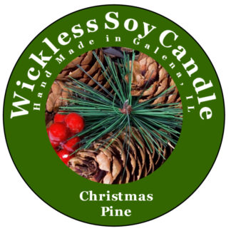 Christmas pine wickless candle