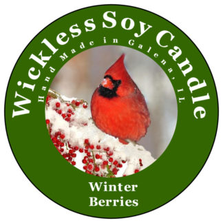 Winter Berries Wickless Candle