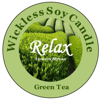 Green Tea Wickless Candle