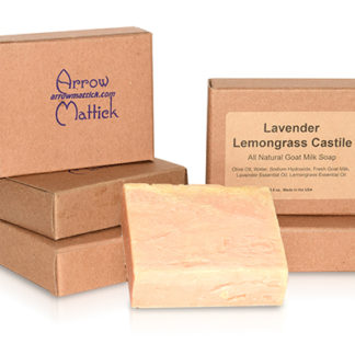 Arrow Mattick lavender lemongrass castile goats milk soap