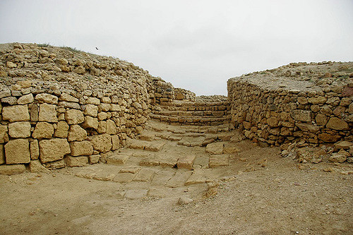 Entrance to the ruined fort of Bhanbhore, believed to be