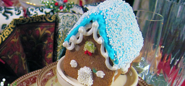 Completed Nonpareil Gluten-Free Mini Gingerbread House Holiday & Hearth Holiday and Hearth Lisa Novelline Lisa Anne Novelline author writer The Dance of Spring craft blog creative blog creativity decorator blog festival celebration seasons nature blog Winter Christmas Yule yuletide Winter Solstice December yule mini gingerbread houses gingerbread house handcrafted gumdrops peppermint candy sprinkles toppings royal icing homemade template