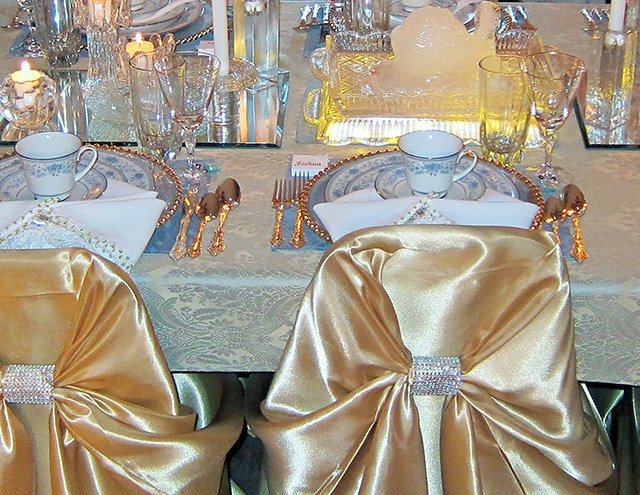 Holiday and Hearth Icy Crystal Tablescape by Lisa Anne Novelline