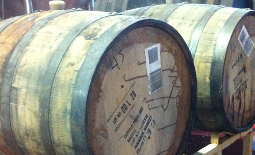 buffalo trace samadams barrel
