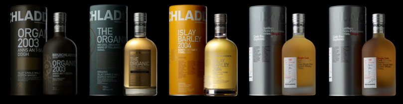 Bruichladdich_Whisky_Product_Line