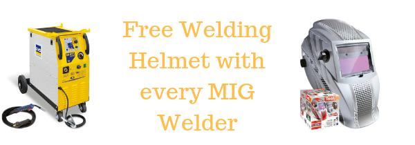 Free helmet with every MIG Welder
