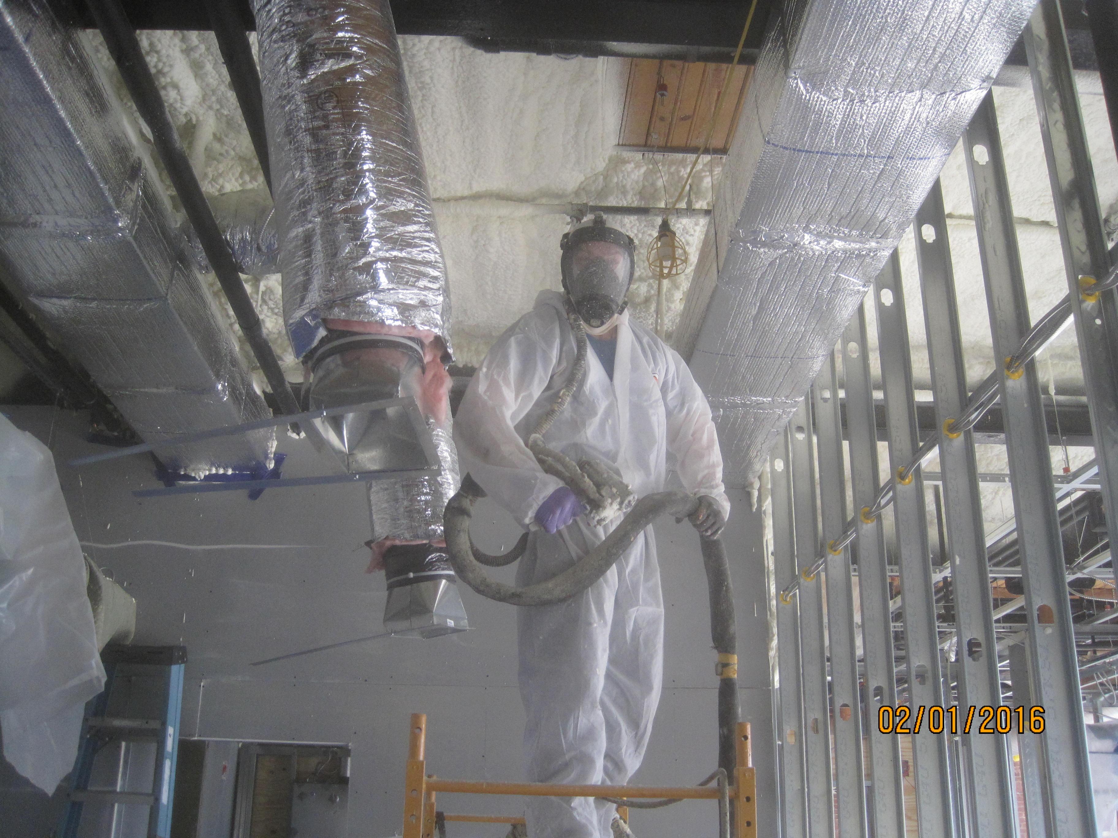 Commercial spray foam insulation