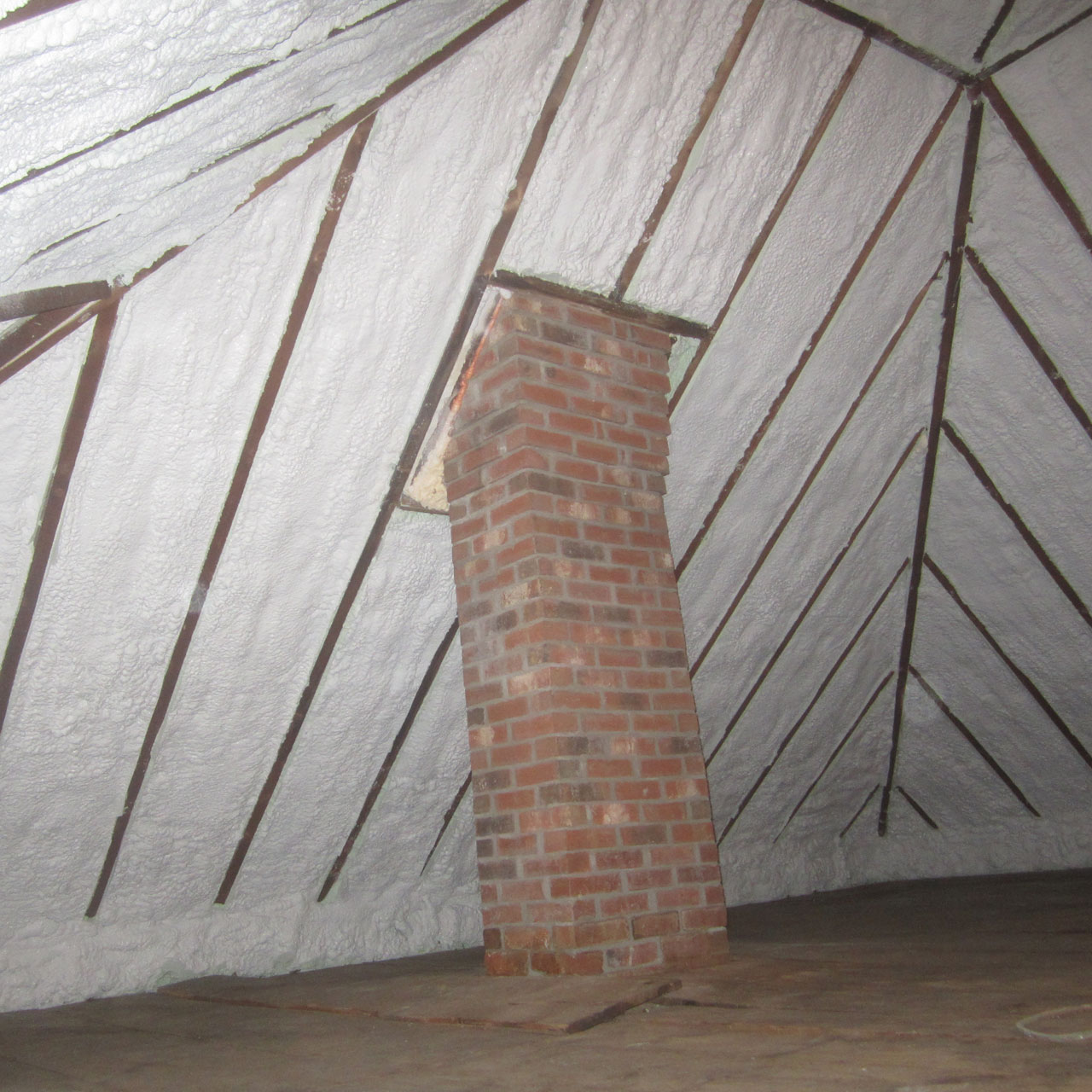 Attic Retroft Closed Cell Spray Foam Roof Northampton MA