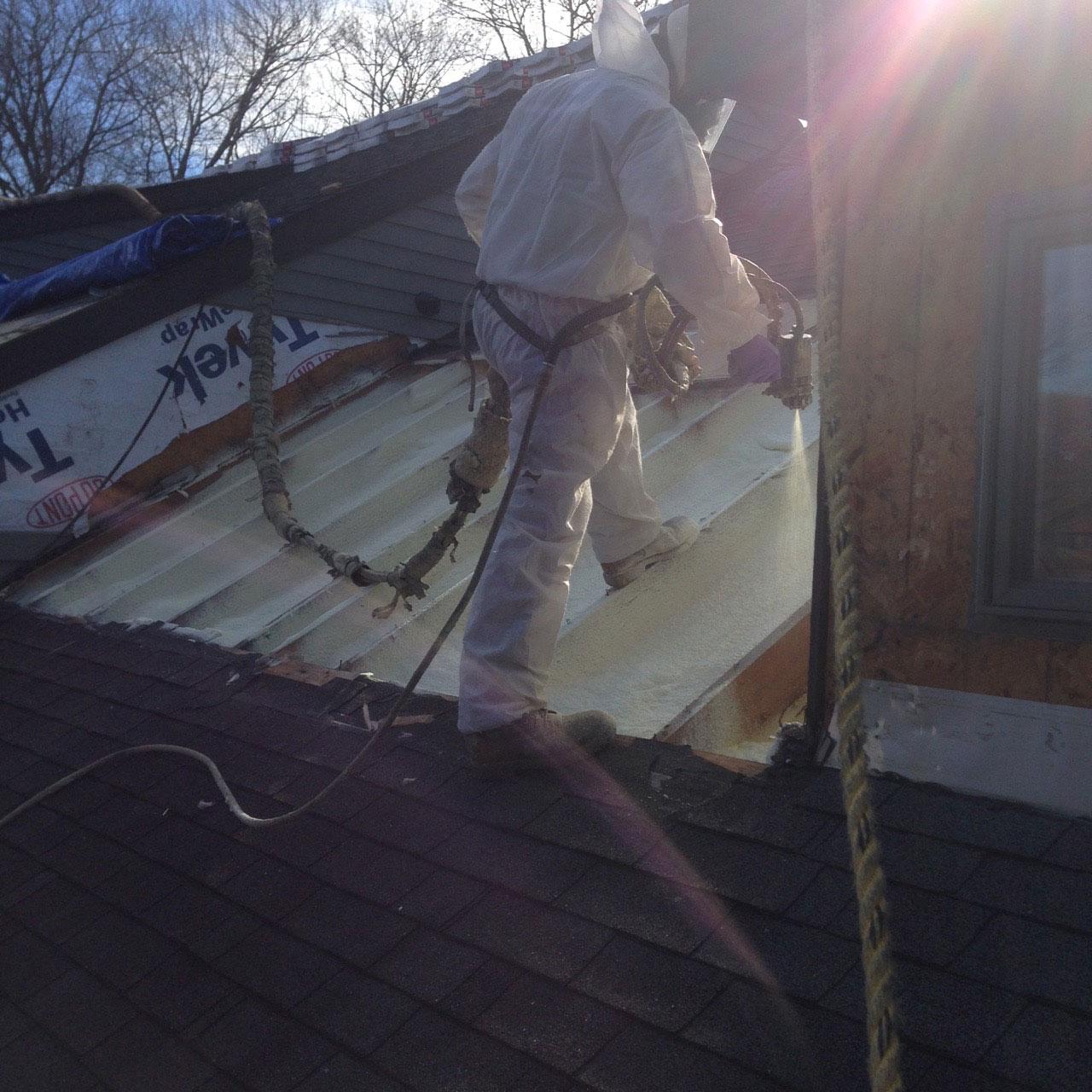 Closed Cell Foam Roof retrofit Leeds MA