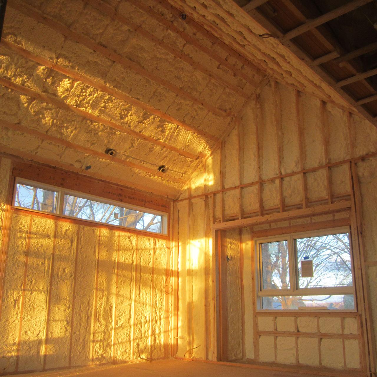 Open Cell Spray Foam R32 Walls Hadley MA