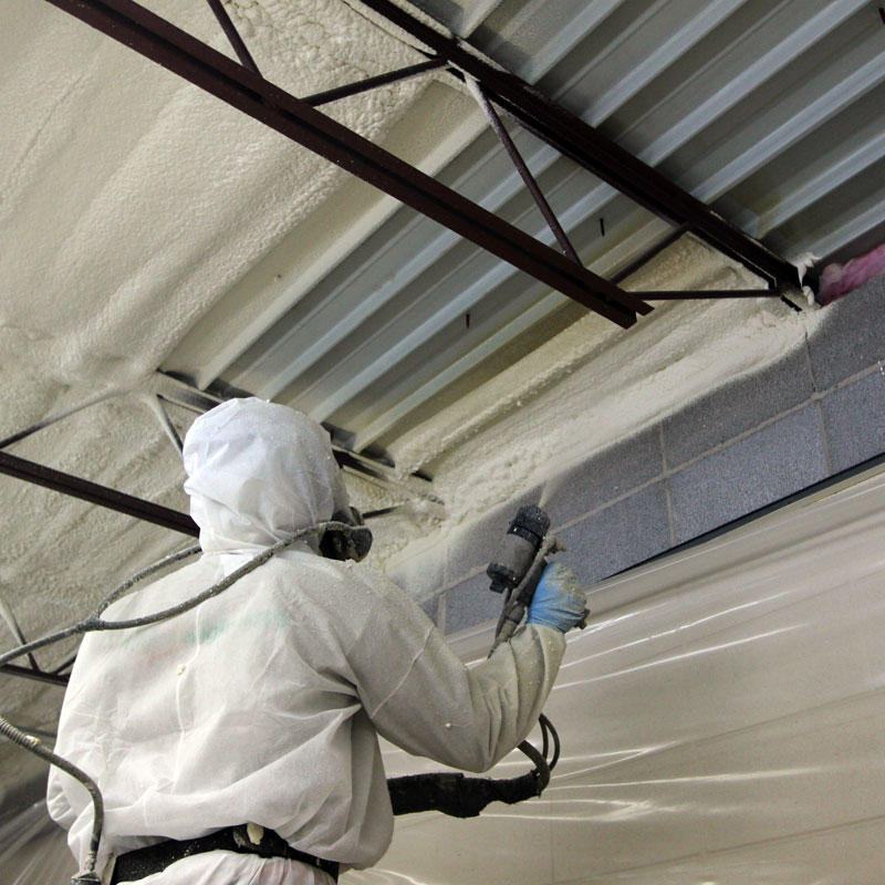 Spray foam insulation for commercial applications