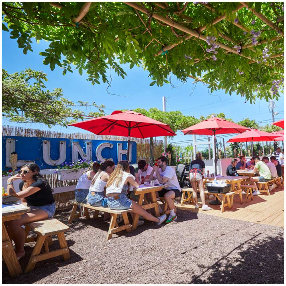 Lunch Lobster Summer Outside Dining