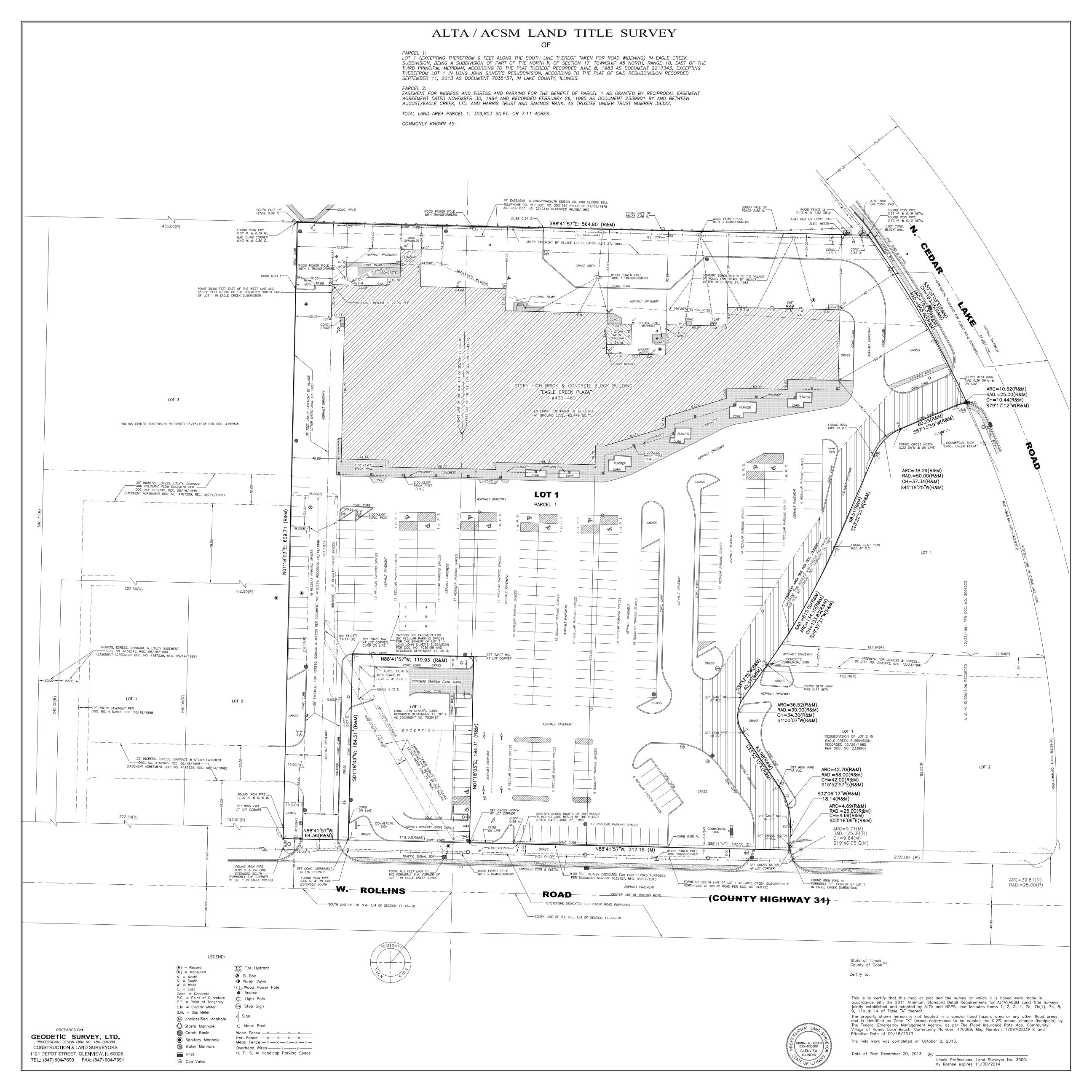 A.L.T.A./A.C.S.M. Land Title Surveys