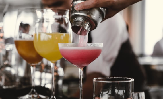 Pouring cocktails image