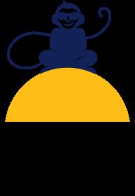 Monkey In Paradise Primary Logo