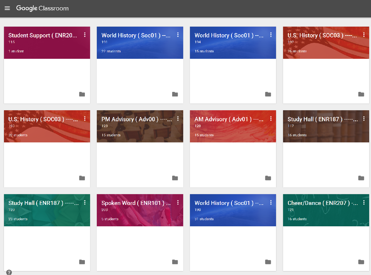 Google Classroom - Classes syncs automatically from PowerSchool