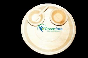 Greenfare Ecofriendly Areca Leaf Disposable Plates and bowls