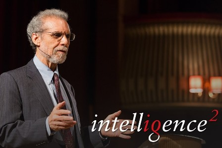 Daniel Goleman giving presentation at intelligence2