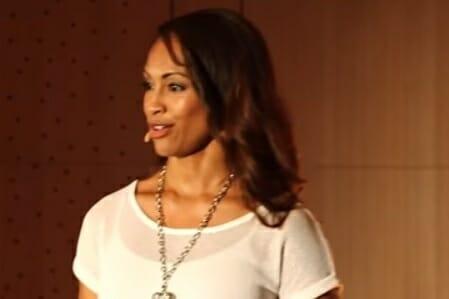 Andrea Pennington giving TEDx presentation