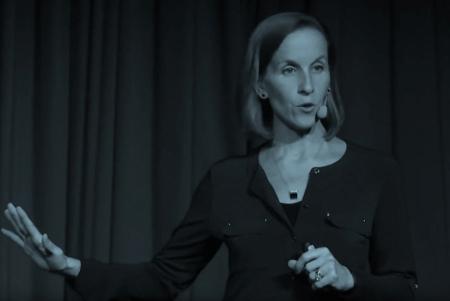 Dr. Laura Jana giving a presentation