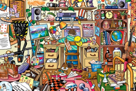 Picture of cluttered room