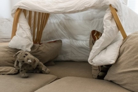 Pillow fort for kids