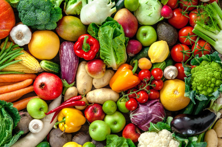 Photo with fresh vegetables