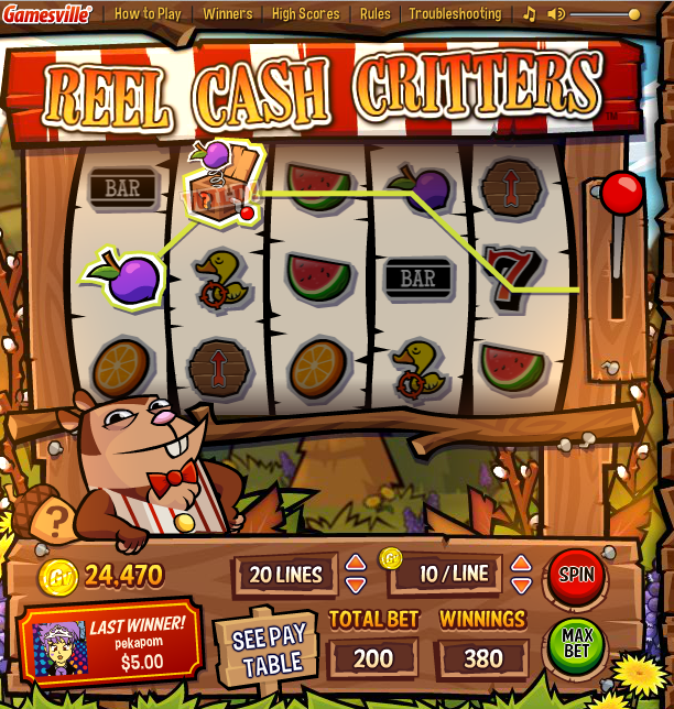 Reel Cash Critters online game