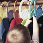 Add Some Color To Your Kid's Closet With Rainbow Monkey Hangers
